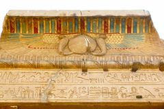 Temple of Kom Ombo, Egypt: polychromed carvings Stock Images