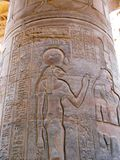 Temple of Kom Ombo, Egypt: relief of Sekhmet, the ancient lion-h Stock Photography