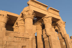 Temple of Kom Ombo in sunset light Royalty Free Stock Image