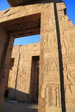 Temple of Kom Ombo. The Temple of Kom Ombo is an unusual double temple in the town of Kom Ombo in Aswan Governorate, Upper Egypt. It was constructed during the Royalty Free Stock Images