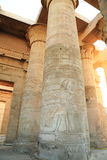 Temple of Kom Ombo. The Temple of Kom Ombo is an unusual double temple in the town of Kom Ombo in Aswan Governorate, Upper Egypt. It was constructed during the Royalty Free Stock Photos