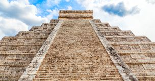 Temple of Kukulcan or the Castle, the center of the Chichen Itza. Maya archaeological site, Yucatan, Mexico Stock Images