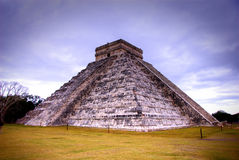 Temple of Kukulcan at Chichen Itza, Mexico. The famous temple of Kukulcan at the Mayan Ruins of Chichen Itza in Mexico Stock Photo