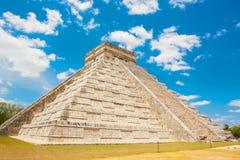 Temple of Kukulkan in Chichen Itza, Yucatan, Mexico Royalty Free Stock Photos
