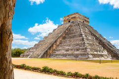 Temple of Kukulkan in Chichen Itza, Yucatan, Mexico Royalty Free Stock Images