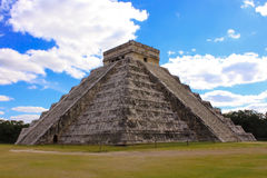 Temple of Kukulkan, pyramid in Chichen Itza, Yucatan, Mexico. Royalty Free Stock Images