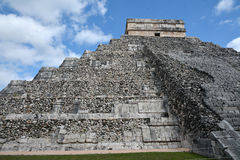 Temple of Kukulkan, pyramid in Chichen Itza, Yucatan, Mexico. Royalty Free Stock Photography