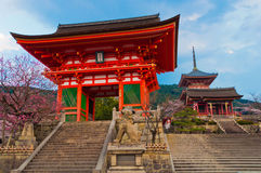Temple in Kyoto, Japan. Kiyomizu Temple in Kyoto, Japan royalty free stock image