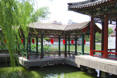 Temple on a lake. Chinese temple on a lake in Beijing, China Royalty Free Stock Photography