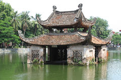 Temple on a lake Stock Photo