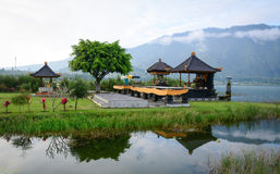 The temple on the lake in Bali, Indonesia Royalty Free Stock Images