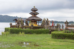 Temple on the lake , Bali , Indonesia Stock Images