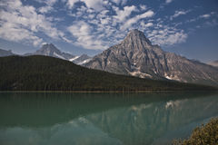 Temple Lake - Jasper National Park Royalty Free Stock Photo