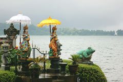 Temple and lake. Photo image  with  temple and statue in the lake Royalty Free Stock Photography