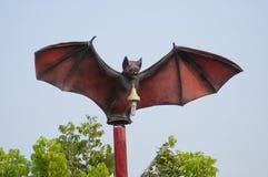 Temple. Lamp with bat shaped pillar,Wat Khao Chong Pran at Ratcha-buree, Thailand Stock Photos