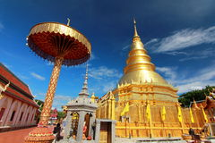 Temple in lamphun Stock Images