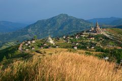 Temple landscape at Khao Kho Stock Image