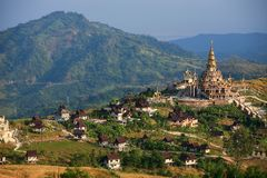 Temple landscape at Khao Kho Royalty Free Stock Photos