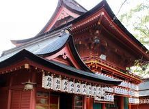 Temple with lantern Royalty Free Stock Image