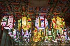 Temple lanterns Royalty Free Stock Images