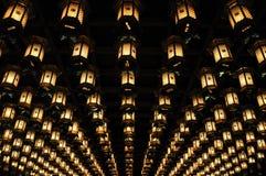 Temple lanterns in Japan Stock Photo