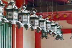 Temple lanterns Japan Stock Images