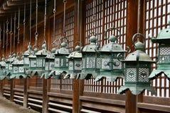 Temple lanterns Japan Stock Photos