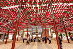 Temple lanterns Stock Photo