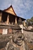 Temple in Laos. Buddhist temple Ho Pra Keo (Wat Pra Keo) in Vientiane in Laos stock image