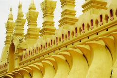Temple in Laos. Wall of temple in Laos Royalty Free Stock Photography