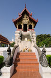 Temple library. Renovated library, Wat Phra Singh, Chiang Mai, northern Thailand Royalty Free Stock Photos