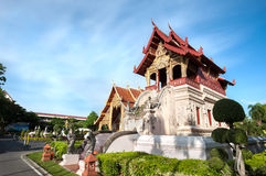 Temple library at Wat Phra Singh, Chiang Mai, Thailand Stock Photo