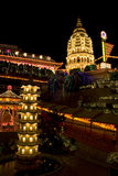 Temple Lighted Up for Chinese New Year Stock Photo