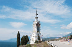 temple-lighthouse of Holy Nicholas, Crimea Stock Photo