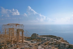 Temple of Lindos royalty free stock images