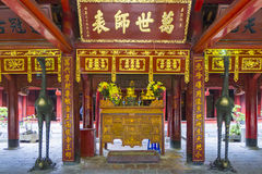 Temple of Literature. Altar inside of Temple of Literature, Dong Da District, Hanoi, Vietnam Stock Photography
