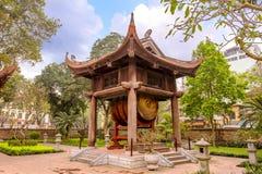 Temple of Literature. Drum tower in Temple of Literature, Hanoi, Vietnam Royalty Free Stock Photo