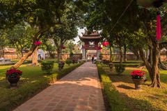 Temple of Literature stock photography