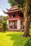 Temple of Literature in Ha Noi. Hanoi, Vietnam - June 21 2016 : Temple of Literature, the first university schools in Ha Noi, Vietnam as Vietnam National Stock Image