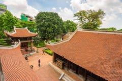 Temple of Literature in Ha Noi. Hanoi, Vietnam - June 21 2016 : Temple of Literature, the first university schools in Ha Noi, Vietnam as Vietnam National Stock Photos