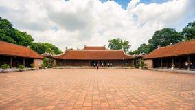 Temple of Literature in Ha Noi. Hanoi, Vietnam - June 21 2016 : Temple of Literature, the first university schools in Ha Noi, Vietnam as Vietnam National Royalty Free Stock Photo