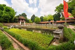 Temple of Literature in Ha Noi. Hanoi, Vietnam - June 21 2016 : Temple of Literature, the first university schools in Ha Noi, Vietnam as Vietnam National Royalty Free Stock Photos