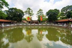 Temple of Literature in Ha Noi. Hanoi, Vietnam - June 21 2016 : Temple of Literature, the first university schools in Ha Noi, Vietnam as Vietnam National Stock Photography
