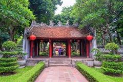 Temple of Literature in Ha Noi. Hanoi, Vietnam - June 21 2016 : Temple of Literature, the first university schools in Ha Noi, Vietnam as Vietnam National Royalty Free Stock Images