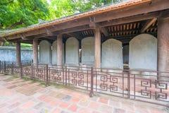 Temple of Literature in Ha Noi. Hanoi, Vietnam - June 21 2016 : Temple of Literature, the first university schools in Ha Noi, Vietnam as Vietnam National Stock Images