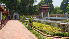 Temple of Literature, Hanoi. Gardens in the Temple of Literature, a Temple of Confucius in Hanoi, Vietnam Royalty Free Stock Photography