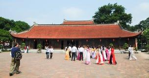 Temple of Literature in Hanoi Stock Images