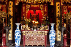 Temple of Literature, Statue Royalty Free Stock Image