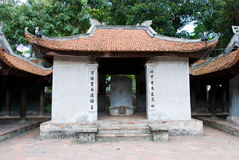 Temple of Literature, Van Mieu, in Hanoi Royalty Free Stock Photography