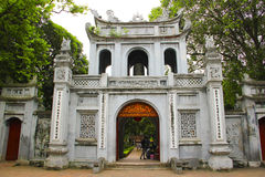 Temple of literature, Van Mieu-Quoc Tu Giam, hanoi. Entrance to the temple of literature,Van Mieu-Quoc Tu Giam, hanoi city in vietnam.  Also know as the temple Stock Images